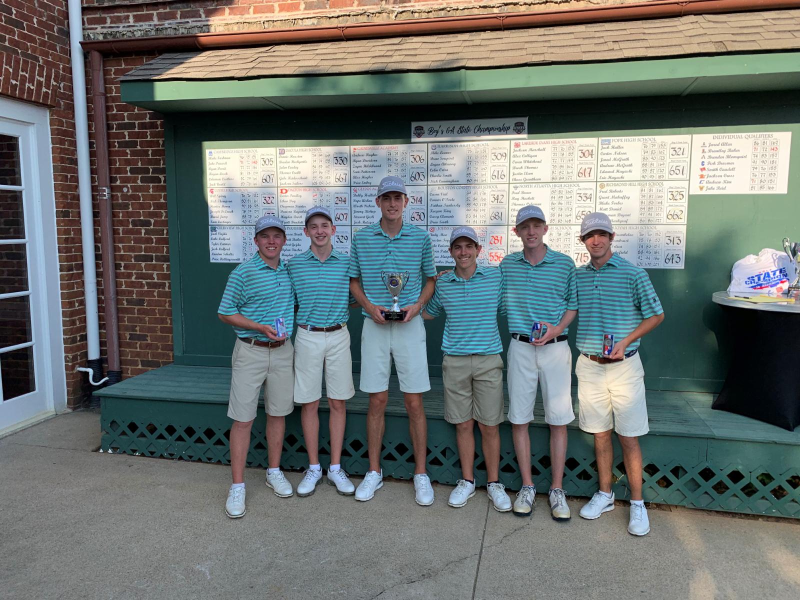 2019 Boys Golf State Runner Up!!!