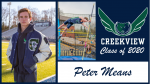 Creekview Track and Field Senior Spotlight – Peter Means