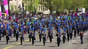 THS Marching band performing at Cherry Blossom Festival in Washington D. C.  April 13, 2019