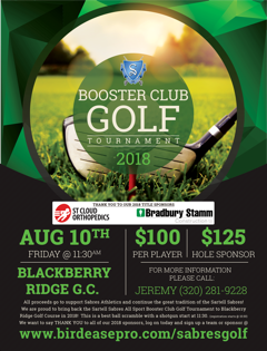 Register for the 2018 Sabres Booster Club Golf Tournament