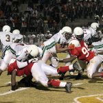 Bob Jones High School: 14 – Huffman High School: 8 (Pats Sink Vikings 14-8)