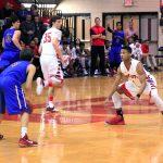 Bob Jones High School Varsity Basketball falls to Huntsville High School 57-64