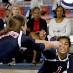 Bob Jones High School Girls Varsity Volleyball beat Mary G. Montgomery, Semmes 3-0