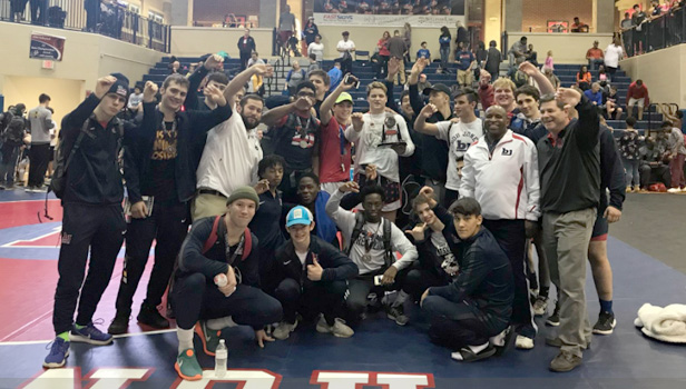 Bob Jones High School Boys Varsity Wrestling finishes 1st place
