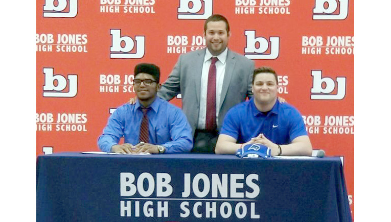 Patriots' Wrestlers Sign Scholarships