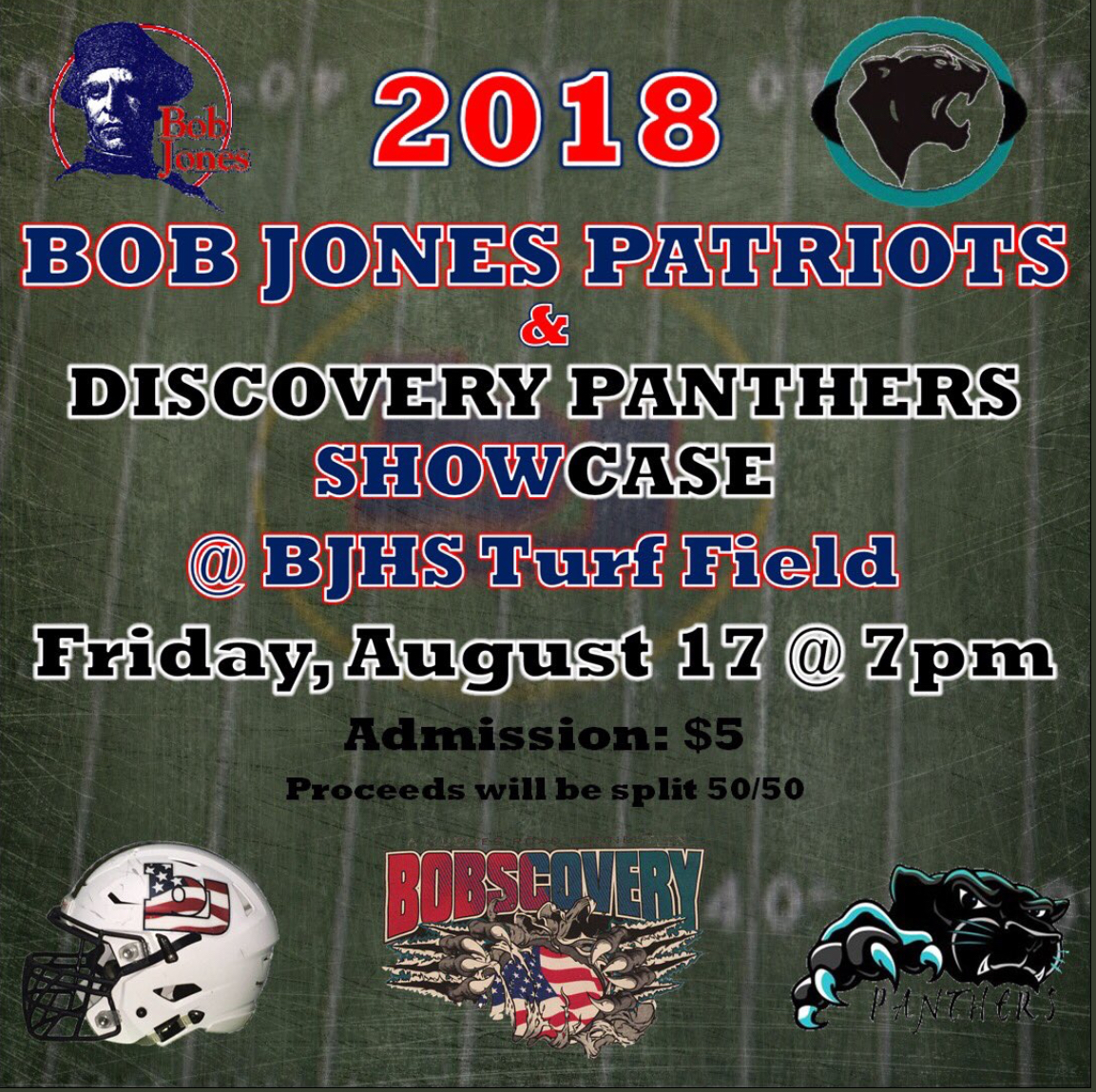 BJ and Discovery Football Showcase – This Friday