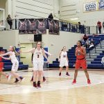 Girls Varsity Basketball falls to Huntsville 40 – 34