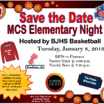 Elementary Night – January 8th