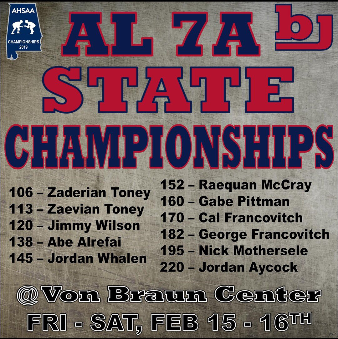 Wrestling State Tournament starts TODAY!