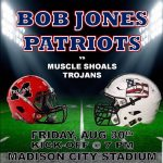 Football at HOME Friday, August 30th – 7:00 PM