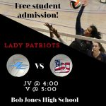 Home Volleyball today vs JC.  BJ STUDENTS FREE!!