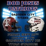 Football Tonight at Gadsden City – 7:00 PM