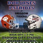 Football vs Grissom and Military Appreciation Night at MCS Stadium