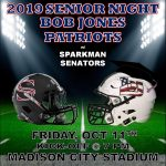 Football vs Sparkman and Senior Night at MCS Stadium