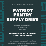 Basketball at Sparkman Tonight & Pantry Supply Drive Tuesday