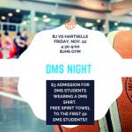 Home Basketball Friday Night – DMS Spirit Night