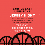Jersey Night – Home Basketball Tuesday, Dec 17th