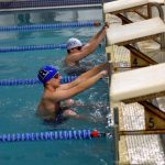 Randolph High School Boys Varsity Swimming falls to Rockland High School 71-76