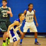 Randolph High School Boys Varsity Basketball beat Medford High School 64-62