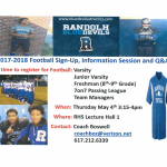 Calling all Randolph Football players!!