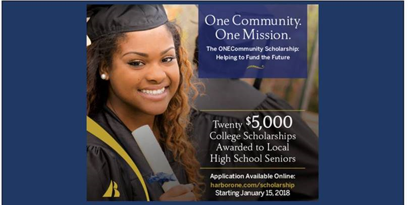 Harbor One Scholarship available to all high school seniors!