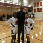 Alumni Yvelande Donis and Chayla Louro Take on Regis Basketball