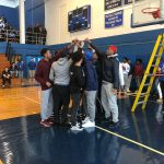 Boys Basketball Net Cutting Ceremony