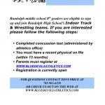 RCMS 8th graders- Tryouts for RHS Wrestling and Track and Field