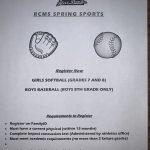 RCMS Spring Sports Registration