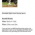 Boys Baseball Spring Sports Meeting