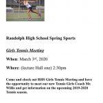 Girls Spring Tennis Sports Meeting