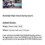 Girls Spring Softball Sports Meeting