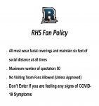 2020 RHS FAN Policy