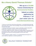 Henry David Thoreau Foundation is Offer 20,000 Tuition Scholarship for Environmental Studies