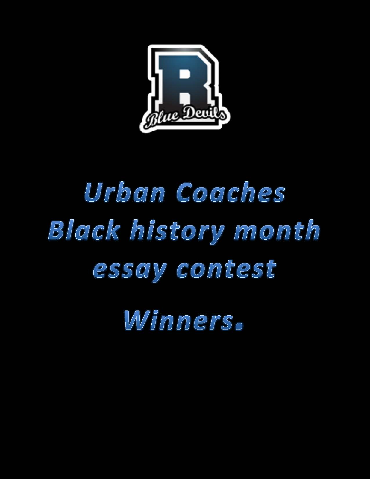 Urban Coaches Black History Month Essay Winners