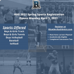 2021 Spring Sports Registrations Open April 5