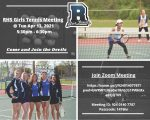 Attention RHS Students: RHS Girls Tennis Meeting is Apr 13 @ 5:30pm