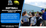 Softball Registration is Now Open!!!