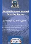 RHS Baseball Players Needed!!!!