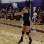 Hannah bumping the ball