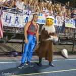 Eagle and student spirit leader