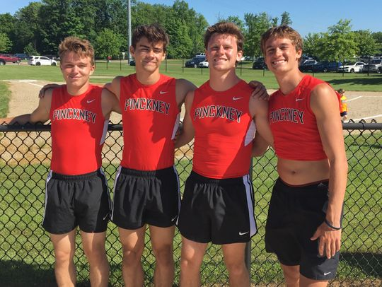 Pinckney's 400-meter relay team consisted of (from