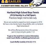 ICYMI: Boys Tennis Information