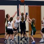 Girls 7th Grade Basketball beats Parker 48 – 12