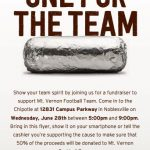Eat Chipotle Wed 6/28 from 5-9 pm & Support Football Team