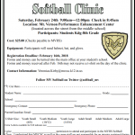 MVHS Softball Clinic Coming Up on 2/24!
