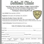 MVHS Softball Clinic Coming Up on 2/24!
