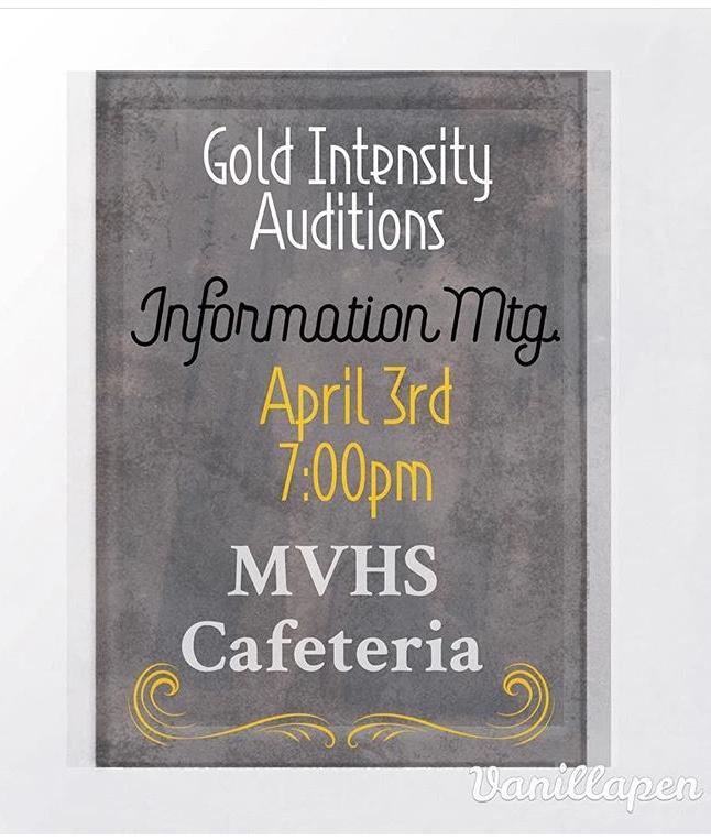 Gold Intensity Information Meeting 4/3