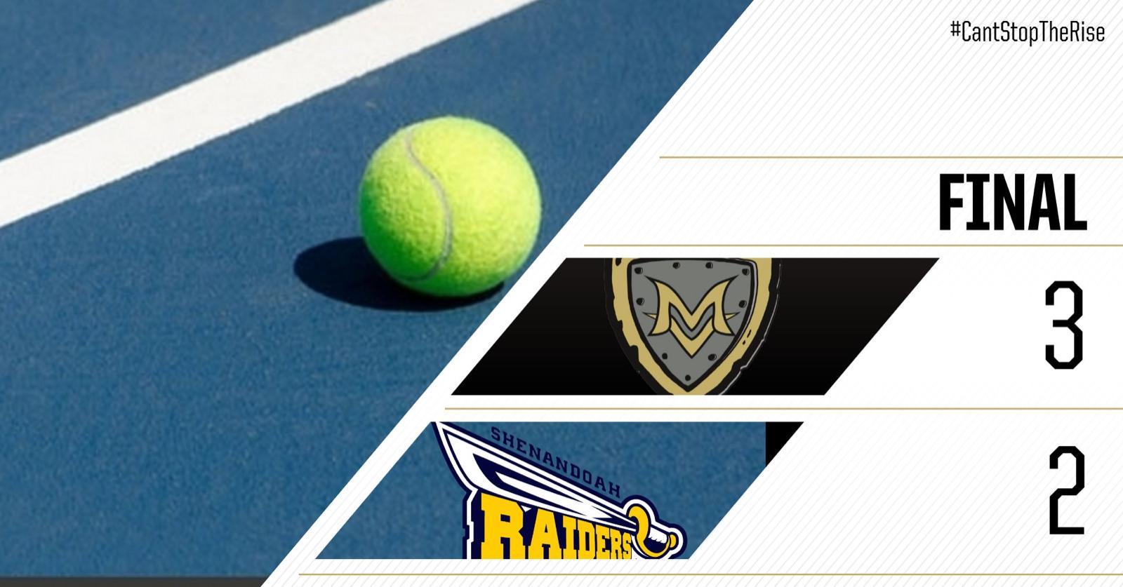 MV opens Boys tennis season with  3-2 win Vs Raiders of Shenandoah AT SHENANDOAH
