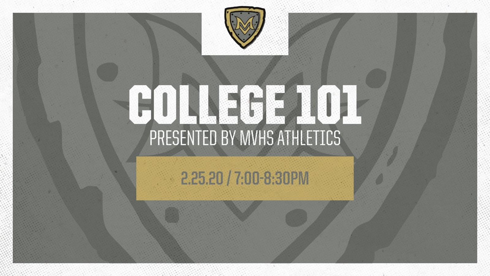 MV Athletics Hosting College 101 Seminar
